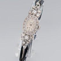 Hamilton Armbanduhr Antik Art Deco Diam.-Bes. 14K Weißgold