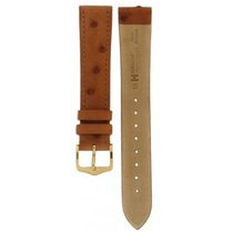 Eberhard & Co. Hirsch Massai Ostrich Brown Leather Strap 18mm