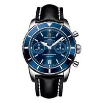 Breitling A2337016/C856-leather-black-deployant Superocean...