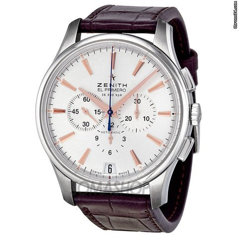 Zenith El Primero Captain Silver Dial Chronograph Automatic Mens Watch 03211040001C498