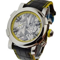 Romain Jerome Titanic DNA Steampunk Chrono Yellow in Polished...