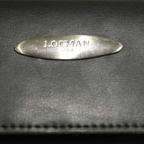 Locman watch box leather black booklet warranty blanc