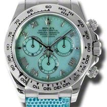 Rolex Daytona White Gold - Leather Strap 116519 blue