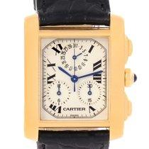 Cartier Tank Francaise Chronoflex 18k Yellow Gold Watch W5000556