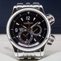 Jaeger-LeCoultre Master Compressor Geographic SS / SS Black Dial