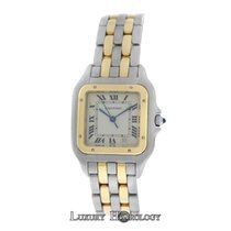 Cartier Mint Ladies Midsize 26MM   Panthere Two Row 18K Gold Date