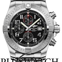 Breitling Super Avenger II 48MM Steel Case Black Dial  G