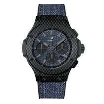 Hublot Big Bang 44mm Jeans Carbon Mens Watch Ref 301.QX.2740.N...