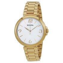 Bulova White Dial Gold-tone Ladies Watch 97L139