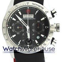 Tudor 42000 Leather BLK IND Fastrider Chronograph Black Dial...