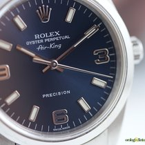 Rolex Air-king Precision 34mm Steel on Steel Blue Face