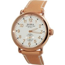 Shinola The Runwell White Dial Rose Gold Pvd Steel Unisex...