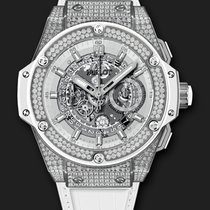 Hublot King Power Unico Titanium White Pavé 48 mm