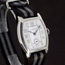 Longines White Dial Massiv Silber 935 aus 1922