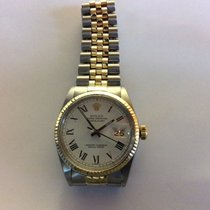 Rolex datejust 36mm atomatic Steel Gold White Dial wit roman