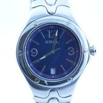 Ebel Sportwave Herren Uhr Neue Version Stahl/stahl Blau 40mm