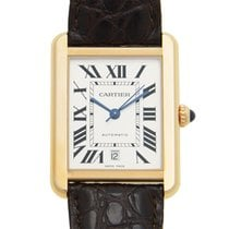 Cartier Tank 18k Rose Gold And Steel White Automatic W5200026