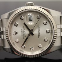 Rolex DateJust with Factory Silver Diamond Dial 116234