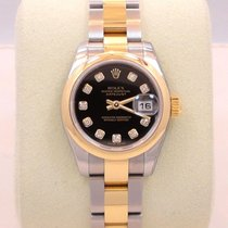 Rolex Datejust 179163 Two Tone Ss & 18k Y Gold Diamond...