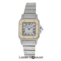 Cartier Mint Women's Santos Galbee 1567 Quartz 18K Gold Steel