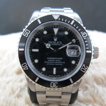 Rolex SUBMARINER 16610 (T25) Black Dial with Black Bezel
