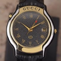 Gucci 8200M Gold Plated and Stainless Steel Men's Quartz...