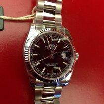 Rolex Datejust 36 Edelstahl / Weißgold Oysterband 116234 Schwarz