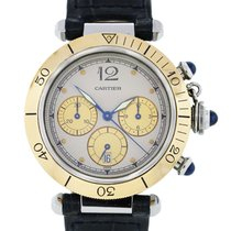 Cartier Pasha 1032 Stainless Steel and  Gold Chronograph Watch