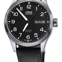 Oris Big Crown ProPilot Day Date, Black Leather Bracelet