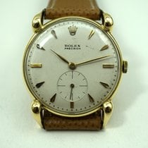 Rolex 4332 Precision 18k yellow gold dates 1947