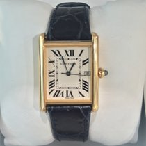 Cartier Tank Louis 18k Yellow Gold Leather strap