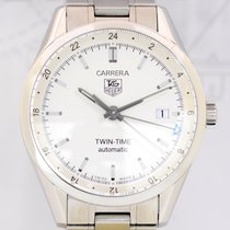 TAG Heuer Carrera Twin Time Automatik white dial GMT