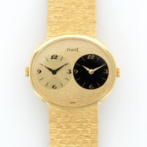 Piaget Vintage Yellow Gold Dual Time Bracelet Watch