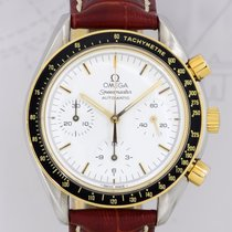 Omega Speedmaster Automatic Chrono Stahl Gold reduced white...