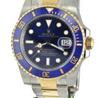 Rolex 2-toned Submariner Ceramic and Azur Dial Full Package