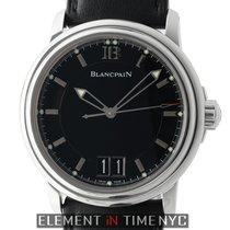 Blancpain Leman  Grande Date 40mm Stainless Steel Black Dial...
