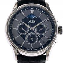 Oris Artelier Complication Mondphase Stahl Automatik Lederband...