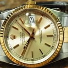 Rolex Datejust Gold and Steel Mens 36mm Saphire Quick