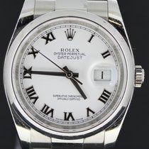 Rolex Datejust 36MM Steel, White Dial,(B&P/2013)