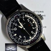 IWC 3262 WorldTime Pilots Watch Steel Automatic Box &...