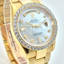 Rolex Day-Date LC100 18K Day Date Diamant Lünette MOP Perlmutt
