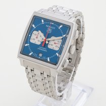TAG Heuer Monaco Blue Steve McQueen CW2113-0 Box &...