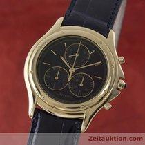 Cartier Lady 18k (0,750) Gelb Gold Cougar Chronograph Damenuhr...