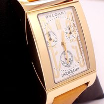 Bulgari Rettangolo Chronograph 18k Yellow Gold Rtc49g