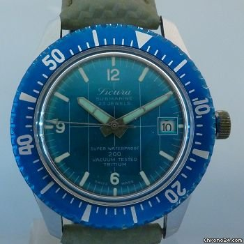 SICURA vintage diver submarine incredible dial