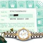 Rolex Ladies 18K/SS Datejust - White Arabic Diamond Dial 79173