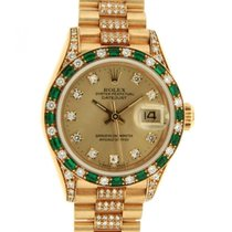 Rolex Datejust Lady 69198 Im Yellow Gold, Diamonds And...