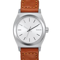 Nixon A509-2082 Small Time Teller Leather Saddle Woven 26mm 10ATM