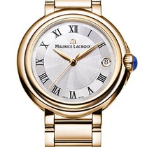 Maurice Lacroix Fiaba. Silver Dial, Roman Index, Gold Plated...