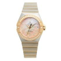 Omega Constellation 18k Rose Magic Diamond Pink Automatic...